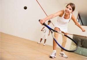 Squashspielerin