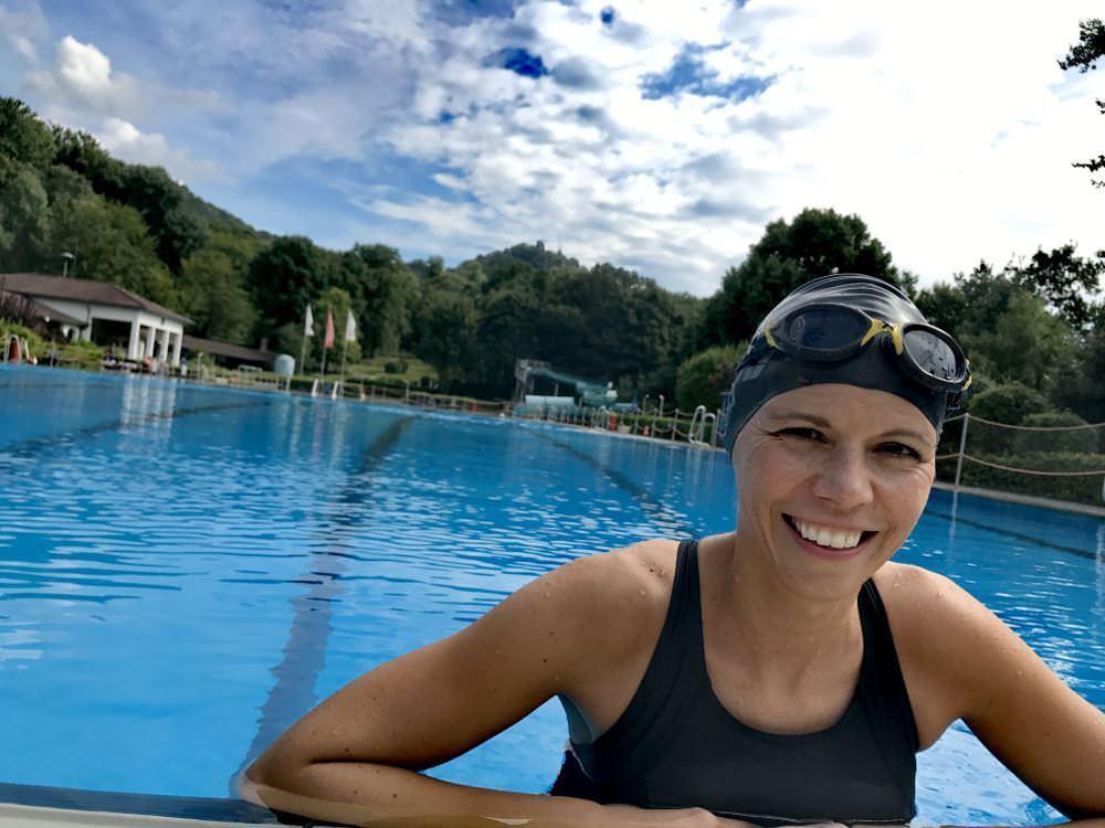 Schwimmen im 50-Meter Becken des Lemmerz-Bad