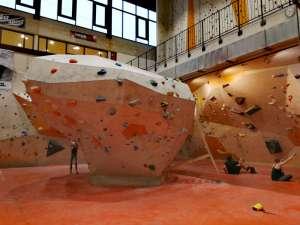 Boulderbereich in der Kletterhalle