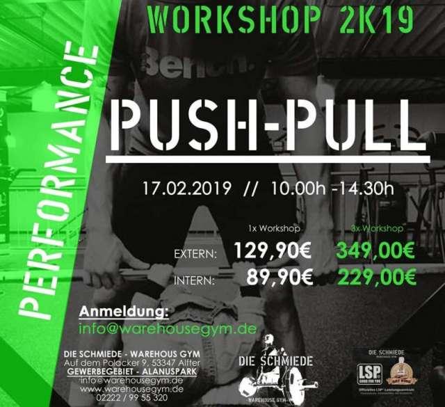 Push-Pull Workshop in der Schmiede